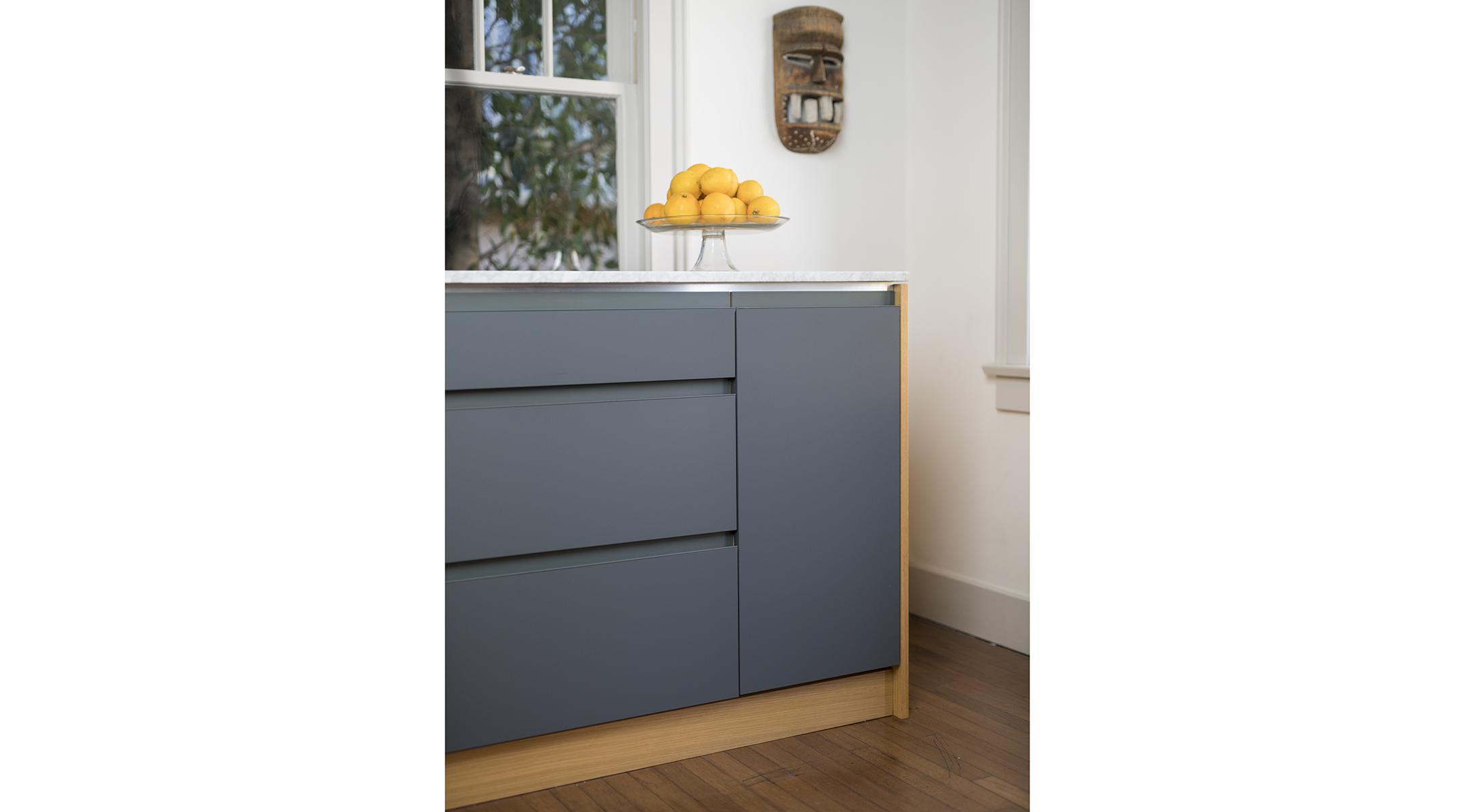Custom Ikea Fenix Dunsmuir Cabinets Integrated Pull